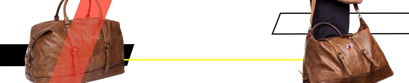 Borsoni Personalizzabili - Borsoni da personalizzare con lettere in metallo ricamate o stampate